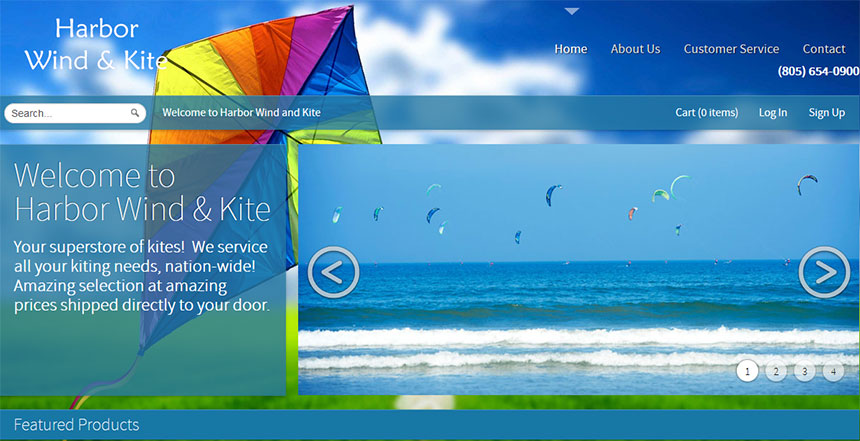 Harbor Wind anf Kite Home Page